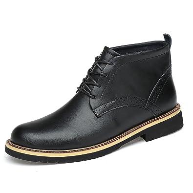 1e243dd4f Amazon.com   Men's Leather Classic Chukka Boots Lace up   Chukka
