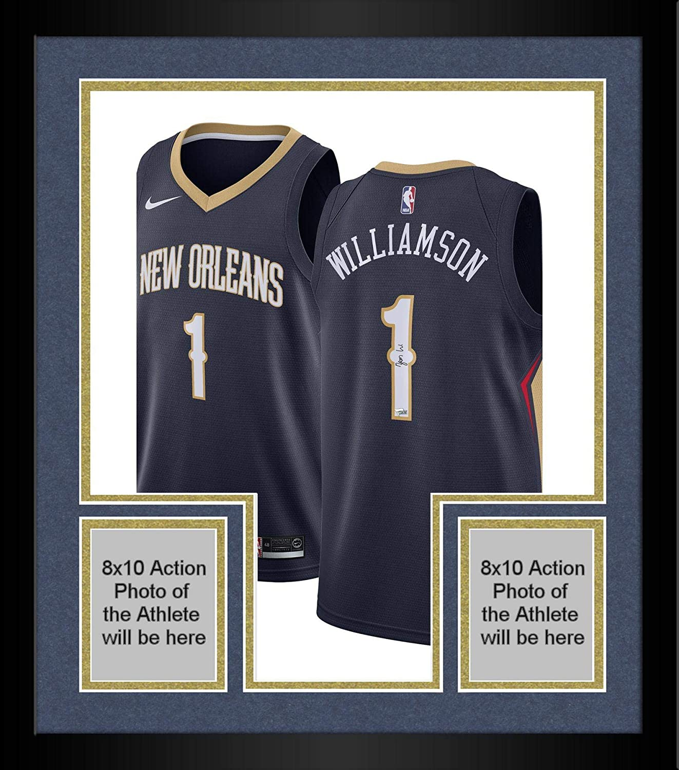 Framed Zion Williamson New Orleans Pelicans Autographed Nike