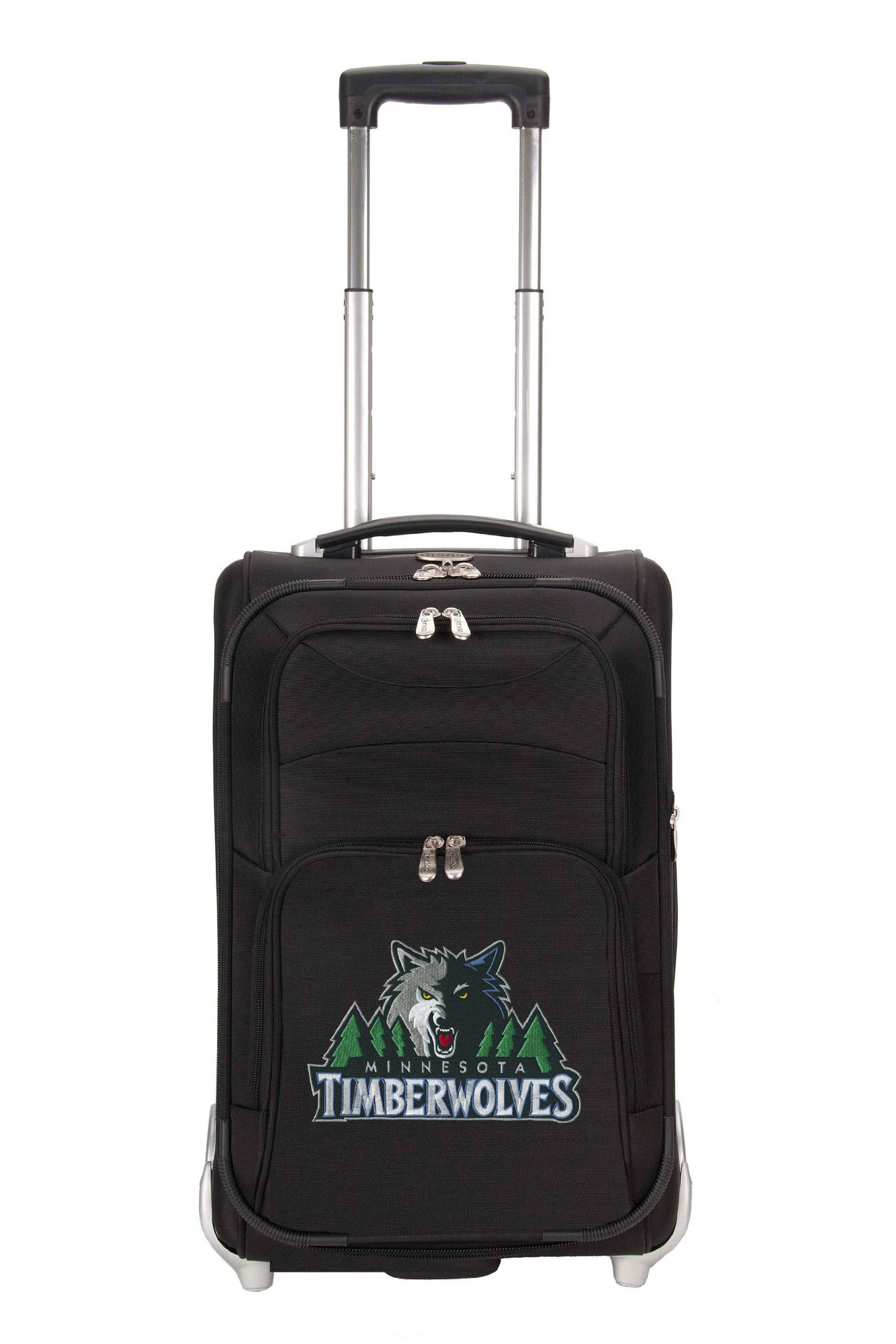 NBA Minnesota Timberwolves Denco 21-Inch Carry On Luggage, Black by Denco