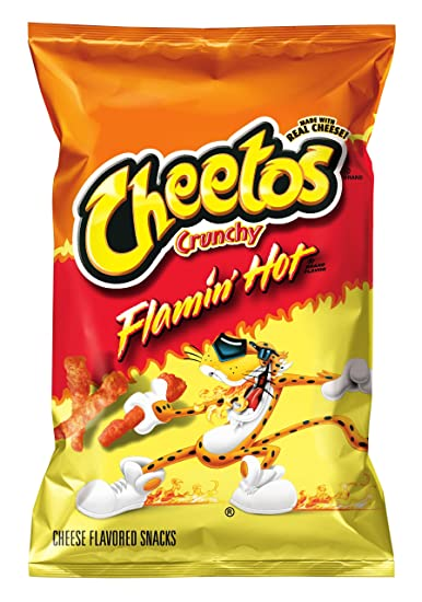 Cheetos Cheese Flavored Snacks, Crunchy Flamin' Hot, 2 38 Ounce