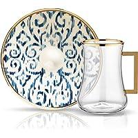 Koleksiyon Dervish Kulplu Çay Seti 6'lı Nomad Kobalt