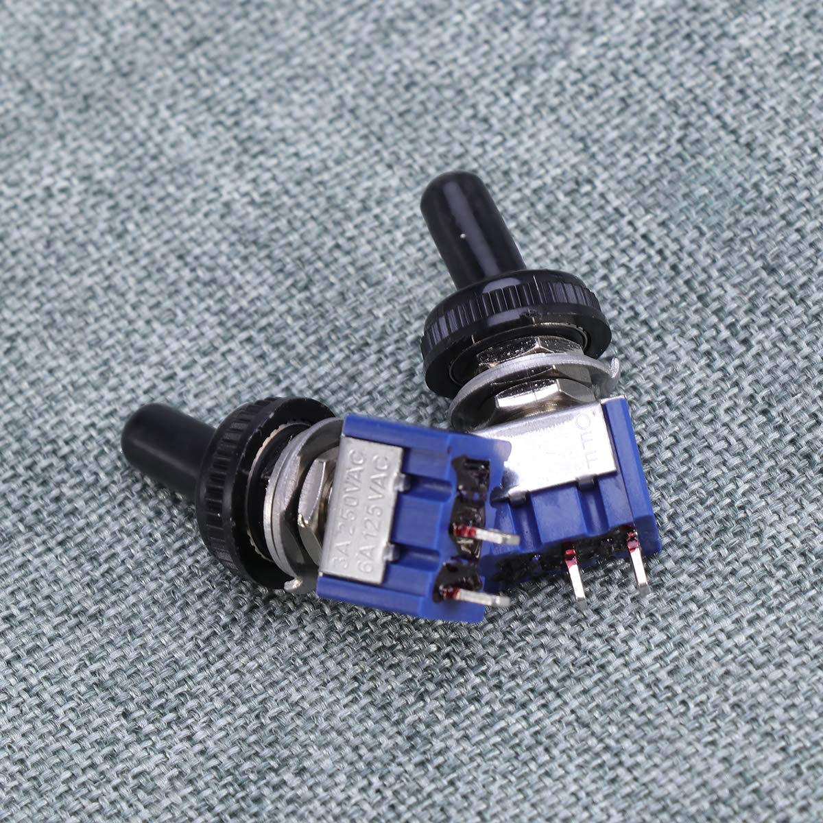 azul con 2 posiciones y con tapa de cobertura impermeable OULII 5/interruptores de palanca on-off de metal