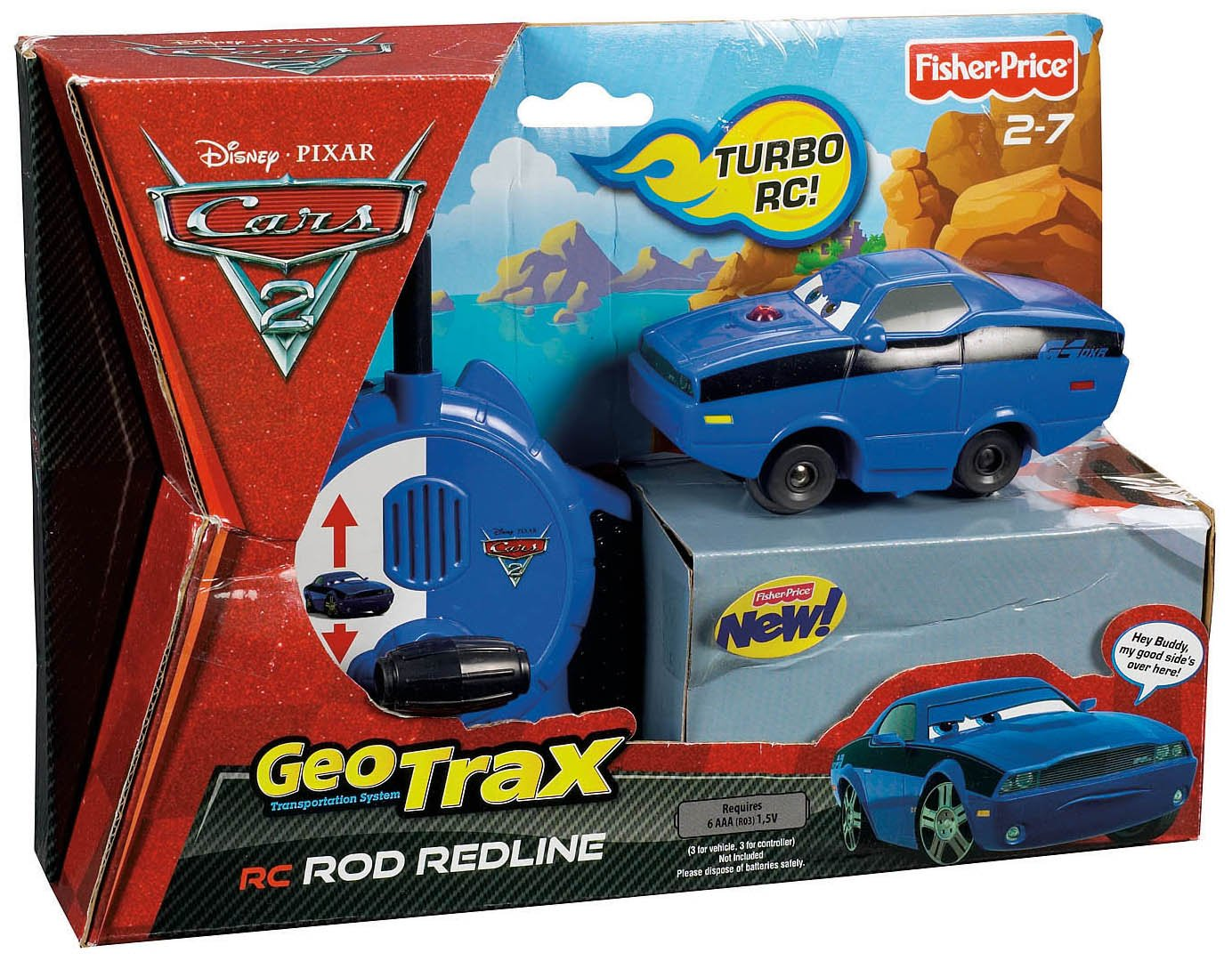 Fisher-Price GeoTrax Disney//Pixar Cars 2 RC Rod Redline