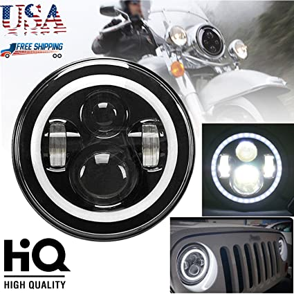 Amazon com: Motorcycle LED Headlight Conversion Kit Round 7 Inch