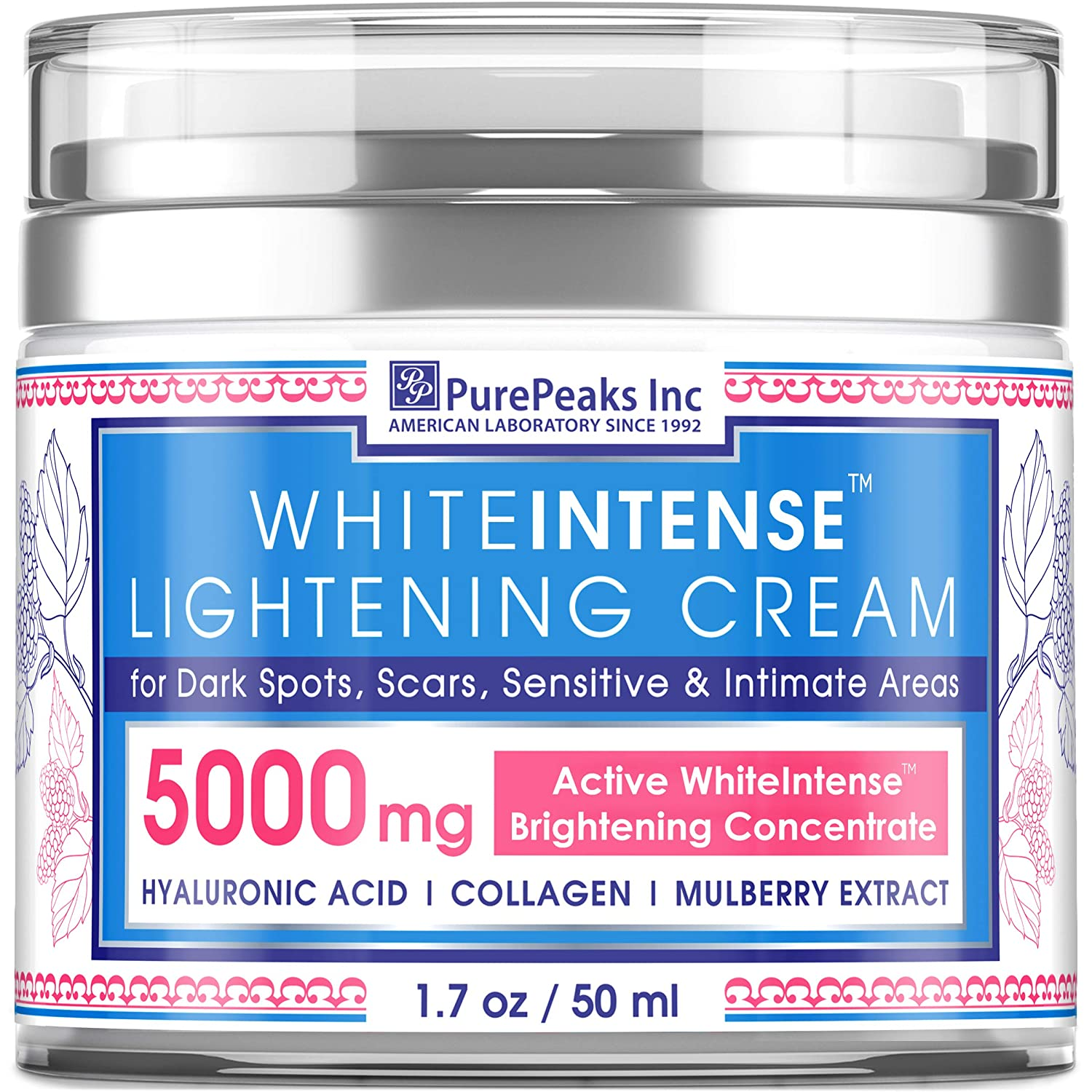 Dark Spot Corrector Cream for Face and Sensitive Skin - Made in USA - Skin Lightening Cream Infused with Potent Natural Alpha Arbutin (Glycosylated Hydroquinone) + Hyaluronic Acid & Collagen - 1.7 oz