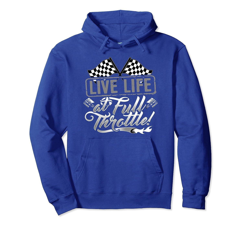 Car Racing Drag Strip Checkered Flag Life Hoodie-alottee gift