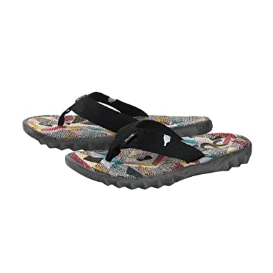 Dude Shoes Herren Damen Sava Etno Graue Leinwand Flip Flop EU46/EU47 nSpn07ps
