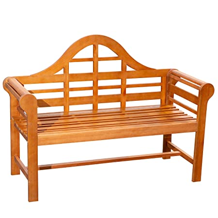 DTY Broadmoor Garden Bench Eucalyptus Patio Furniture Collection – Natural Oil