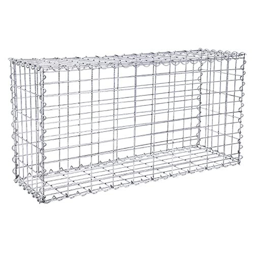 gabion for stones 100x80x30cm mesh 5x10cm outdoor metal basket cage wire 4mm spiral gabions. Black Bedroom Furniture Sets. Home Design Ideas