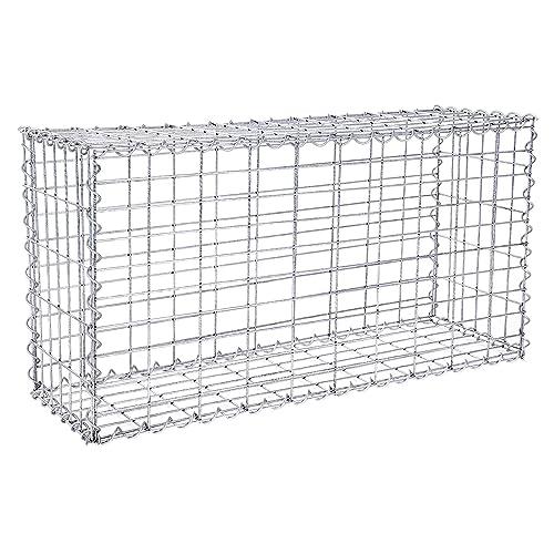 gabion for stones 100x80x30cm mesh 5x10cm outdoor metal basket cage wire 4mm spiral gabions. Black Bedroom Furniture Sets. Home Design Ideas