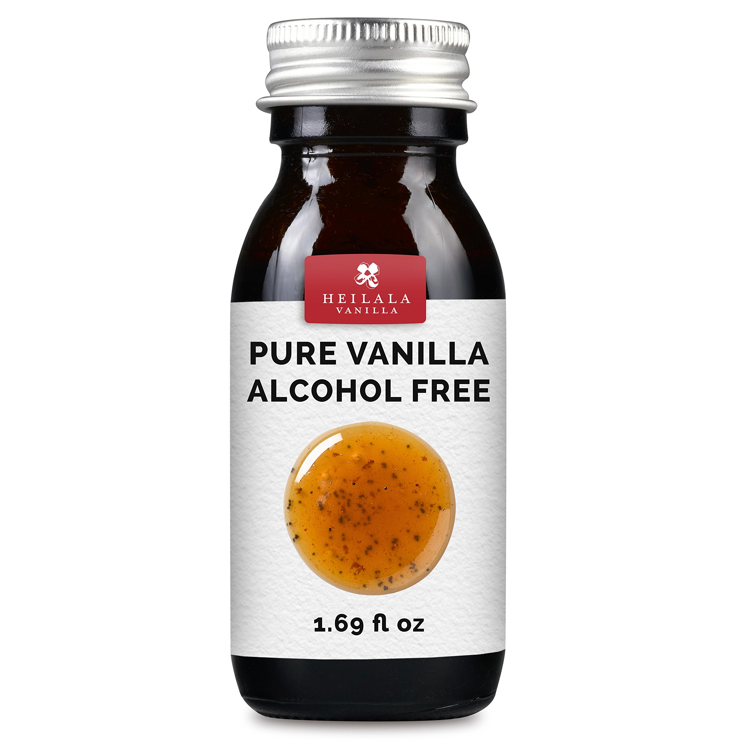 Alcohol Free Pure Vanilla Extract - Made with Real Vanilla Pod Seeds, Organically Grown Beans, All Natural, No Sugar, Vegan, Raw, Superior to Mexican, Tahitian or Madagascan Varieties
