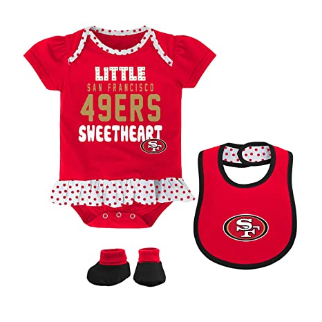7c9cdae5d Amazon.com   NFL San Francisco 49ers Bib and Booty Creeper Set