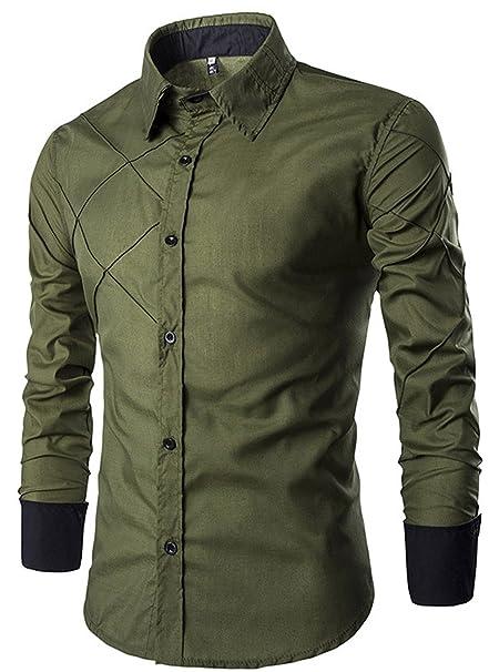 SDIORWE& New New Design Fashion Autumn Men Shirts Casual Turn-Down Collar Male Striped Shirt