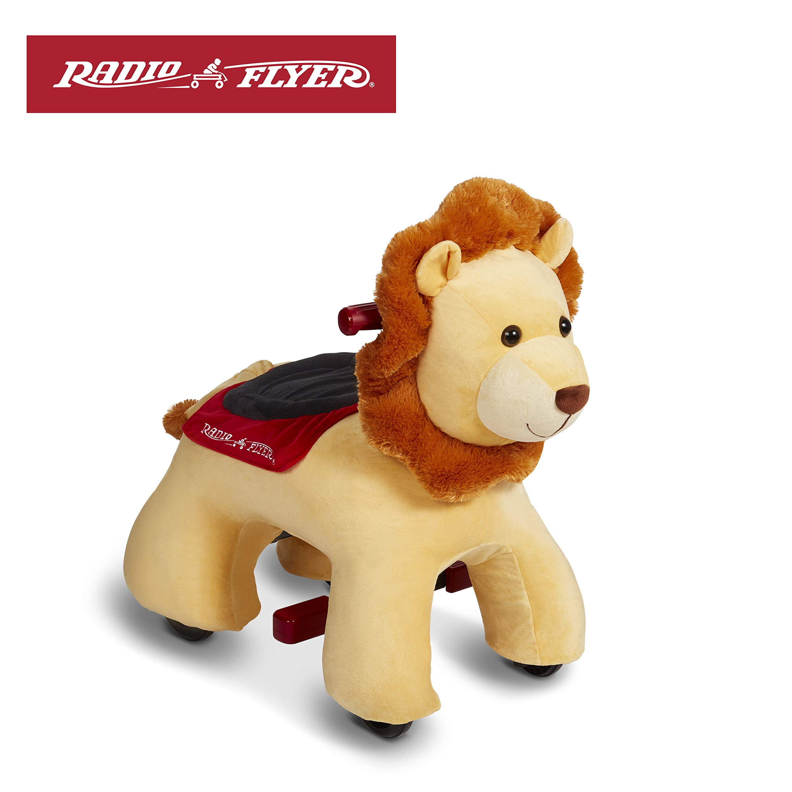 Radio Flyer Rory Electric Ride-On Lion with Sounds, Yellow (Amazon Exclusive) by Radio Flyer
