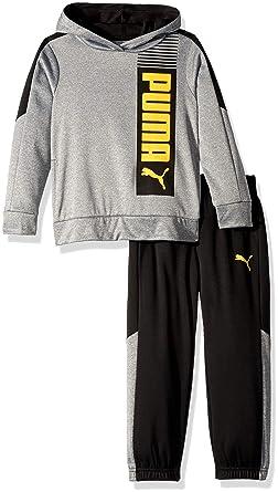 1654c9ba7483 Amazon.com: PUMA Little Boys' Fleece Hoodie Set: Clothing