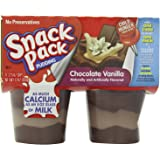 Snack Pack Chocolate Vanilla Pudding Cups, 4 Count, 12 Pack