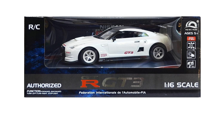 Amazon.com: 1/16 RC Car Nissan GTR GT3 (White): Toys & Games