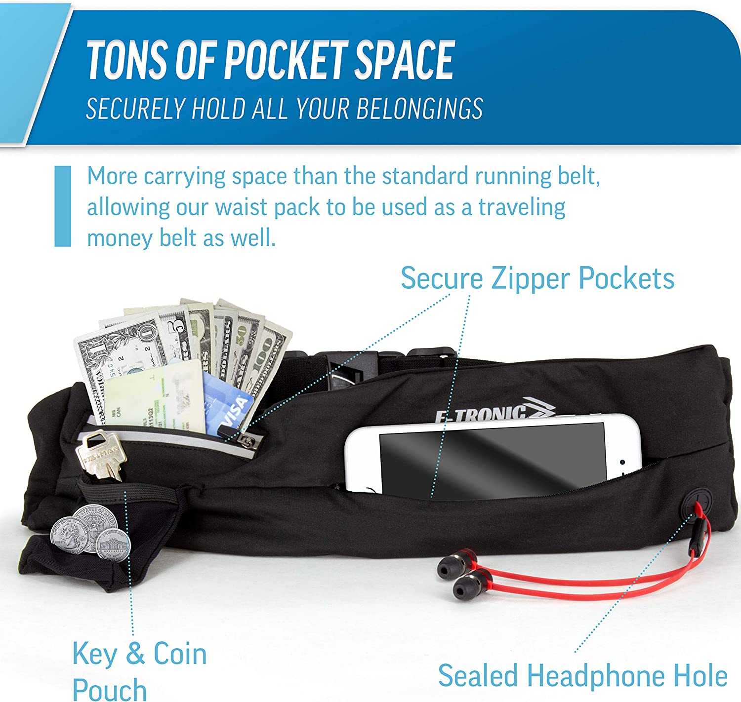 Happy Fathers Day Beautiful Greeting Card Running Lumbar Pack For Travel Outdoor Sports Walkin Travel Waist Pack,travel Pocket With Adjustable Belt