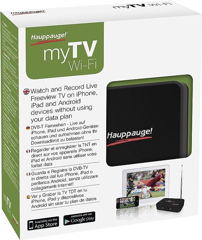 Hauppauge 1542 - Sintonizador de TV TDT-HD, WiFi para Apple iPhone, iPad y Android