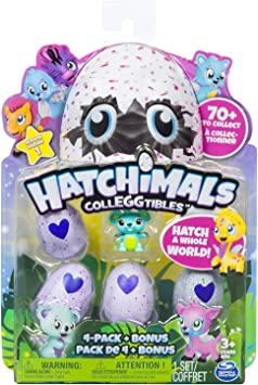 Oferta amazon: Hatchimals - Pack de 4 figuras coleccionable (Bizak 61921915) , color/modelo surtido