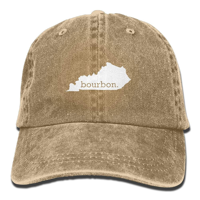 JTRVW Kentucky Bourbon Washed Dyed Cotton Adjustable Denim Cowboy Cap