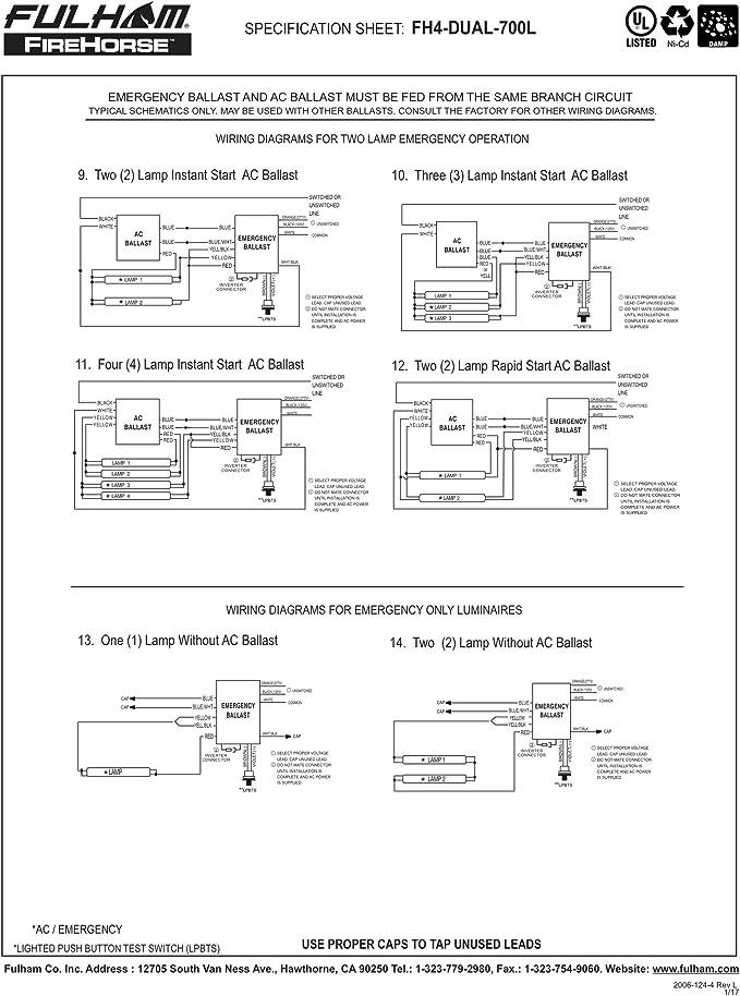 Emergency Light Ballast Wiring Diagram