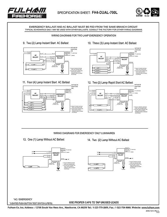 Emergency Ballast Wiring Diagram - Schematics Online on