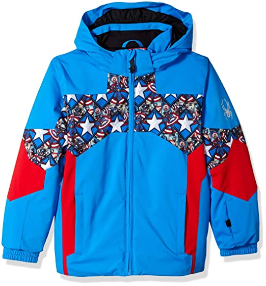 b2238062e Amazon.com   Spyder Active Sports Boy s Mini Marvel Ambush Jacket ...