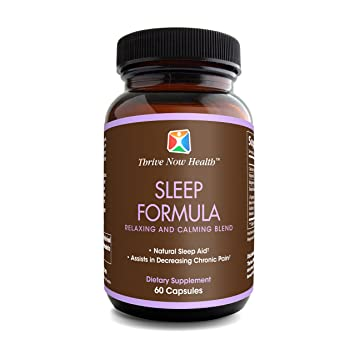 Thrive Now Health Sleep Formula w/ Melatonin (60 Capsules) Natural Sleeping Aid |