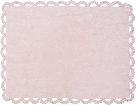 Aratextil. Alfombra Infantil 100% Algodón lavable en lavadora Colección Versalles Rosa 120x160 cms: Amazon.es: Bebé