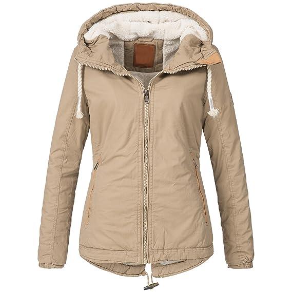 Bol Damen Winterjacke Parka Winter Jacke innen Teddyfell warm 15625 S XXL 2Farben