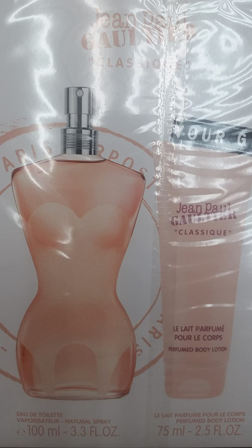Jean Paul Gaultier Classique – Estuche con eau de toilette, 100 ml + loción corporal, 75 ml: Amazon.es: Belleza