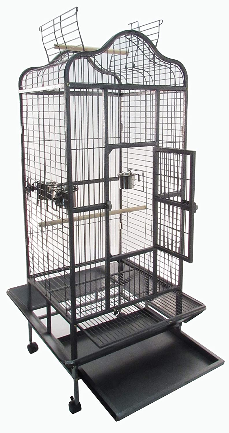 "Parrot Bird Cage with Open Top 68"" x 31.5"" x 29.75"" Littlewhiskers"