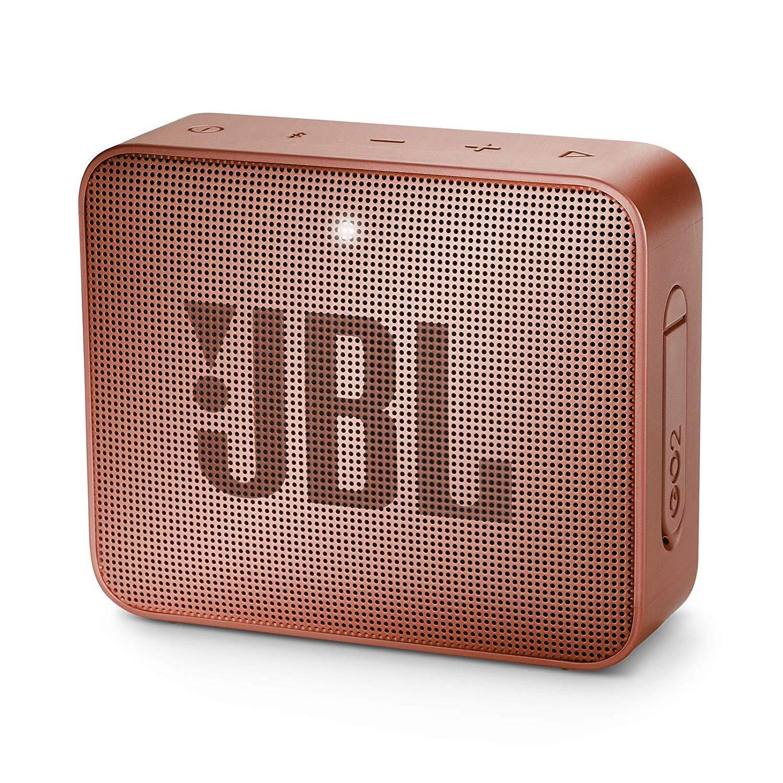 JBL GO 2 - Altavoz inalámbrico portátil con Bluetooth, parlante resistente al agua (IPX7), hasta 5h de reproducción con sonido de alta fidelidad, rosa oscuro