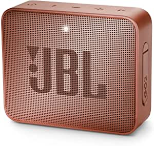 JBL GO2 Portable Bluetooth Speaker with Rechargeable Battery – Waterproof – Built-in Speakerphone – Dark Pink