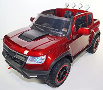 kids chevrolet colorado style ride on toy car for kids with remote control 12v battery