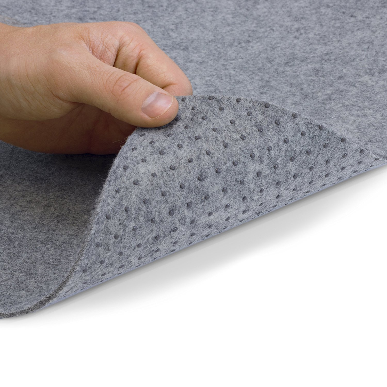 Alpine Neighbor Area Rug Pad with GRIP TIGHT Technology (5x8) | Non Slip Padding Perfect for Hardwood Floors | Thick Felt Cushion for Rugs Nonskid Kitchen Persian Carpet Mat Natural Grey by Alpine Neighbor (Image #2)