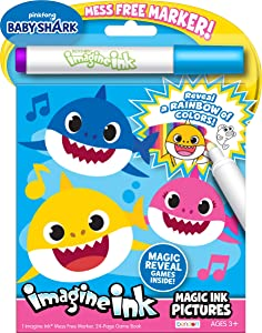 Bendon 47225Baby Shark Imagine Ink Magic Pictures, Multicolor