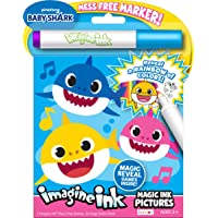 Baby Shark 24 Page Imagine Ink Magic Pictures with 1 Mess Free Marker Bendon 47225