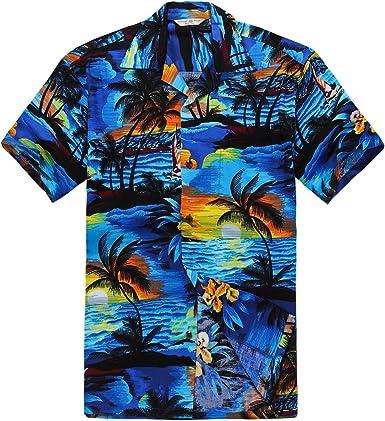 Camisa Hawaiana de los Hombres Camisa Hawaiana: Amazon.es: Ropa y accesorios