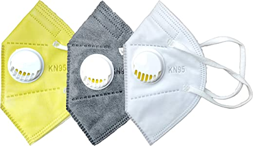 Cotson 5 Layers Antibacterial KN95 Safety Mask With Air Filter-(Pack...