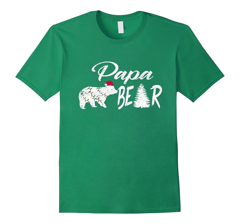 Polar Papa Bear Ugly Christmas Hat Light Pajamas Tshirt-ANZ - Anztshirt b1994da04a1c