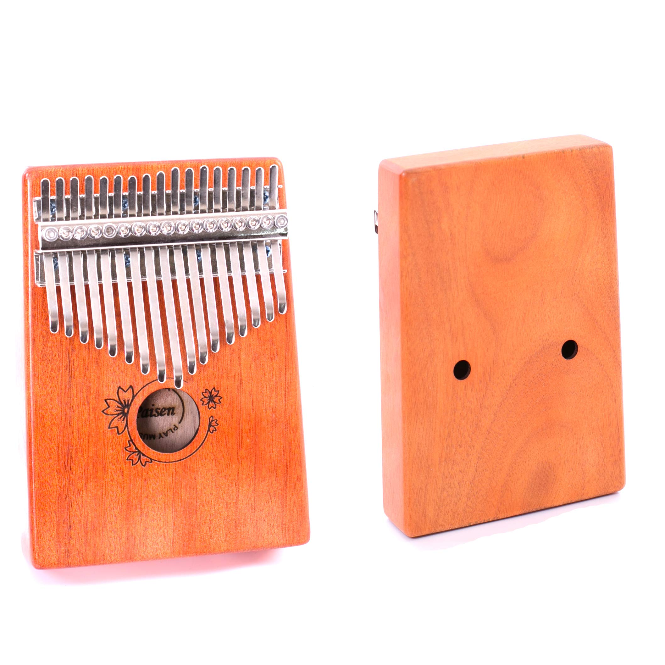 Paisen Kalimba 17 keys Thumb Piano with Study Instruction and Tune Hammer,Mahogany Wood Finger Piano with Portable Carrying Bag and Shoulder Strap for Kids Adult Beginners by Paisen (Image #6)