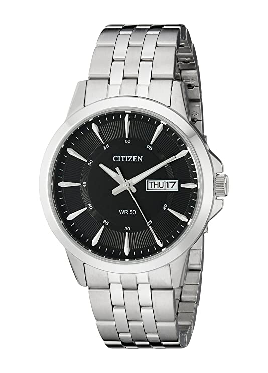 Citizen Men's Quartz Stainless Steel Watch with Day/Date, BF2011-51E