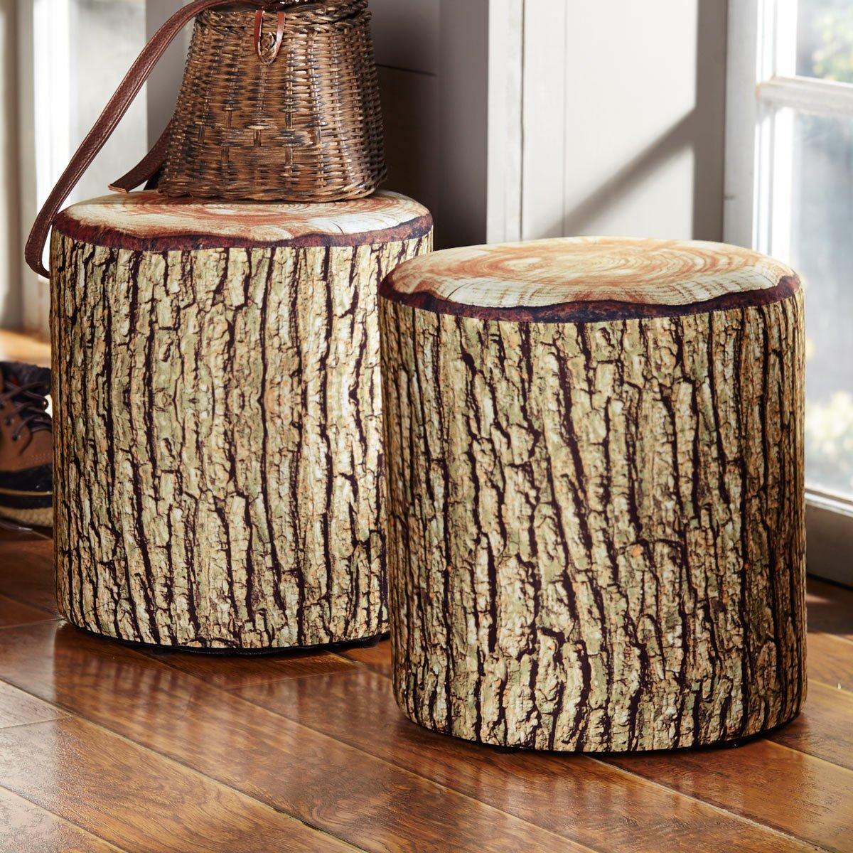 Sensational Black Forest Decor Cushioned Tree Bark Log Seat Machost Co Dining Chair Design Ideas Machostcouk