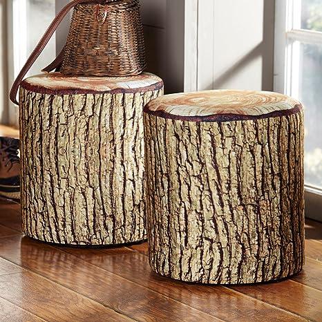 Peachy Black Forest Decor Cushioned Tree Bark Log Seat Dailytribune Chair Design For Home Dailytribuneorg