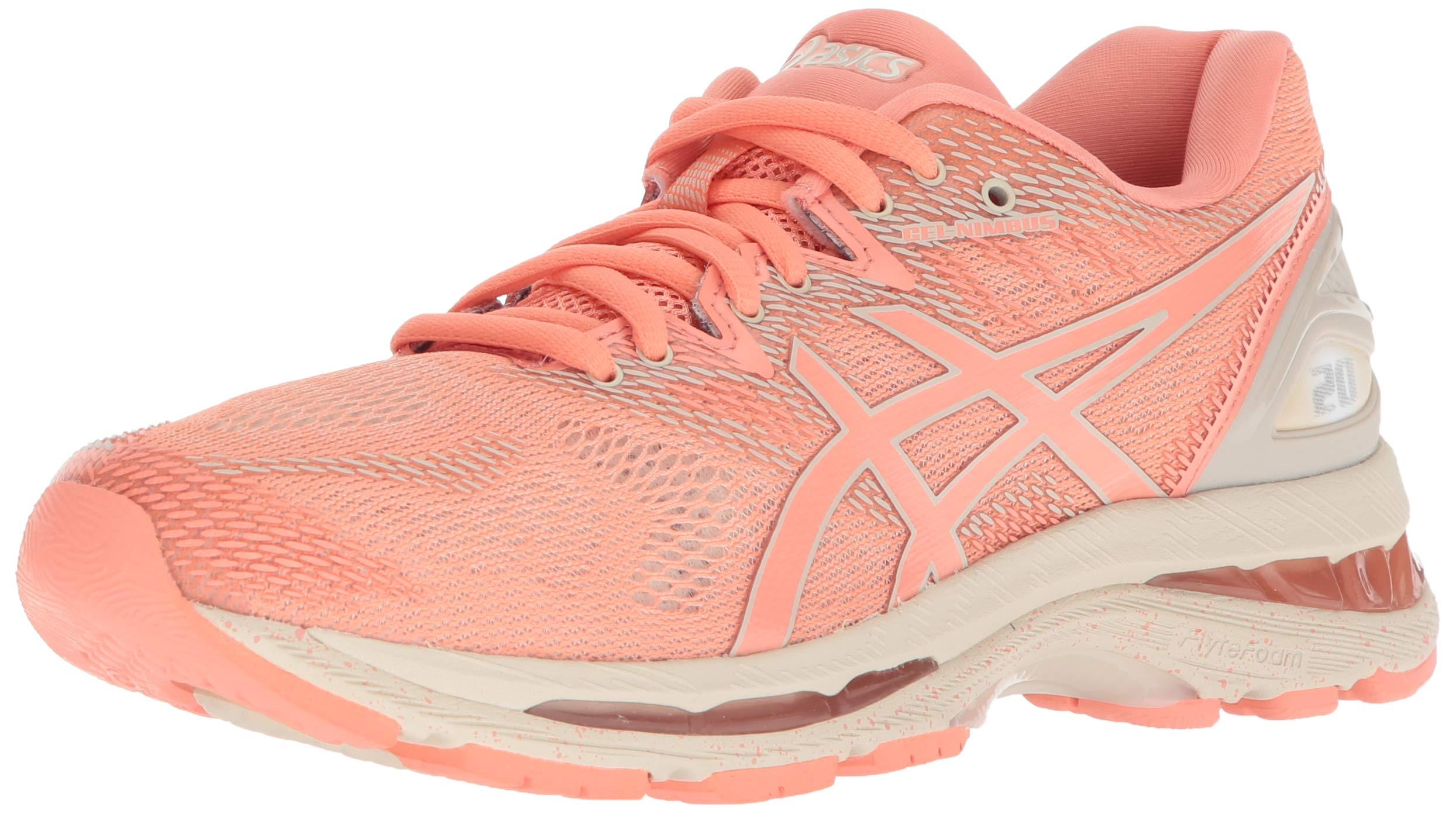 ASICS Women's Gel-Nimbus 20 Running Shoe, cherry/coffee/blossom, 10 Medium US by ASICS