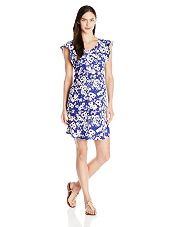 173f12e75f81e Maternal America Women's Maternity Flutter Sleeve Dress, Abstract Daisy,  X-Small
