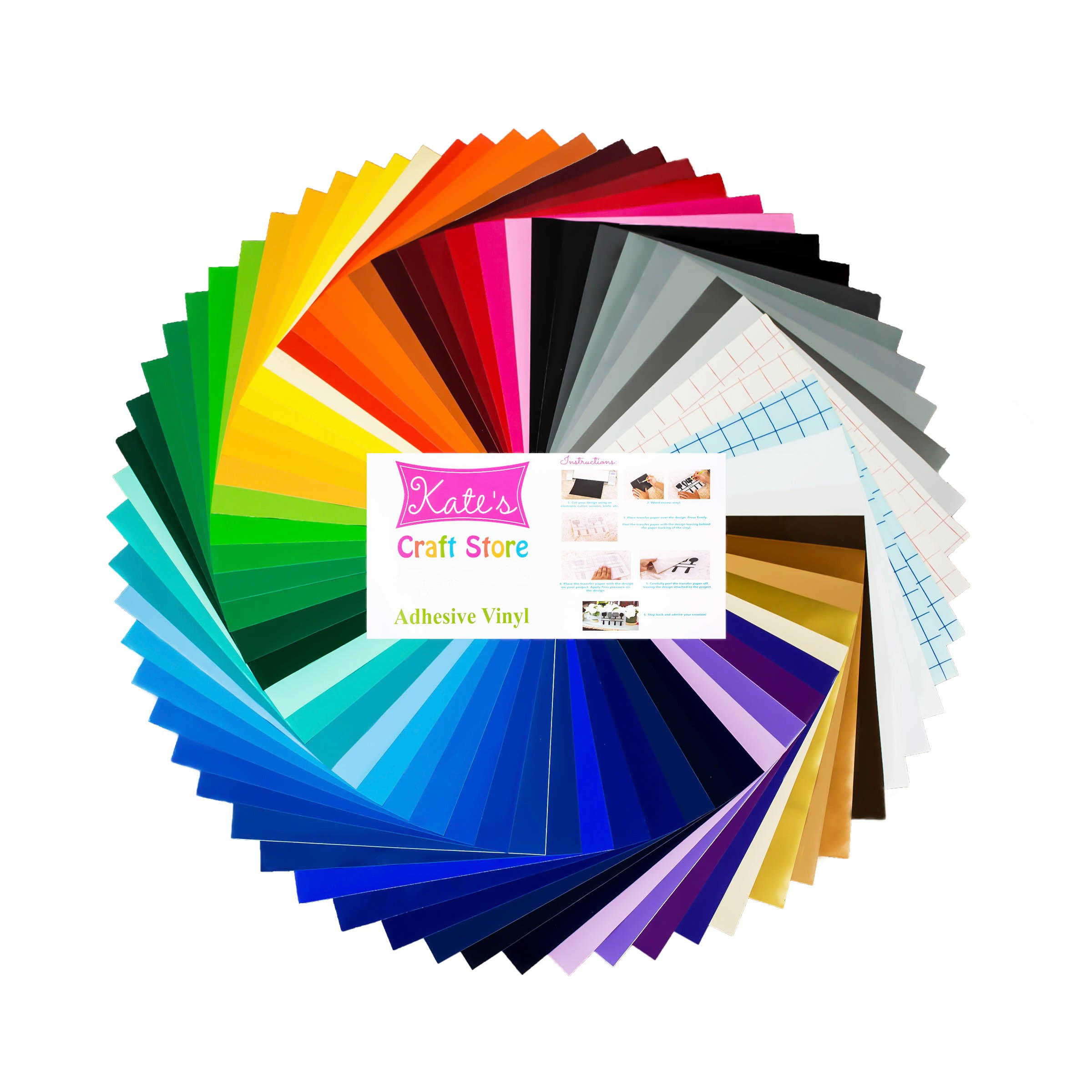 63 Colors Oracal 651 Permanent Outdoor Adhesive Vinyl Sampler Pack