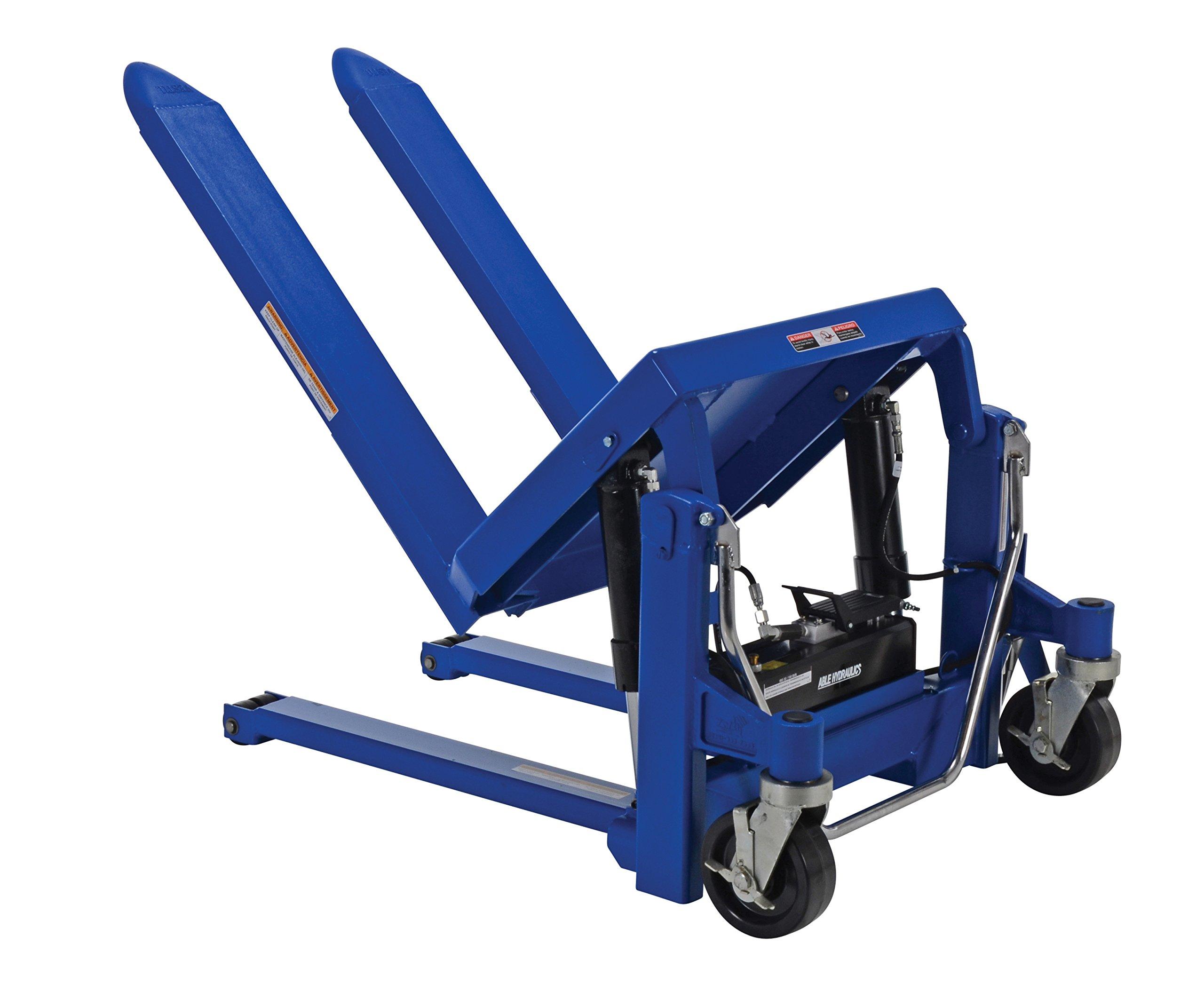 Vestil TM-20-AIR Air and Oil Rotary Foot Treadle Tilt Master, 2000 lb., 28.3125'' Height